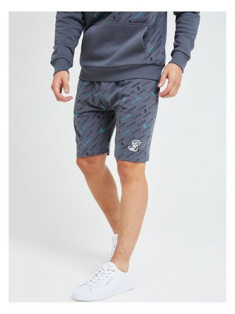 illusive-london-boys-monogram-all-over-print-jog-shorts-grey