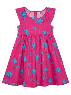 nautica-infant-girls-cotton-palm-print-dress-dark-pink