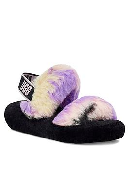 ugg-oh-yeah-tie-dye-slipper-black