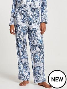 river-island-printed-pyjama-satin-trouser-blue