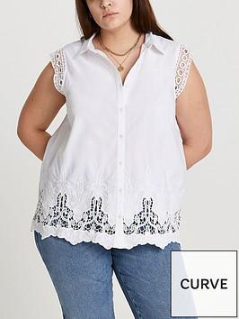 ri-plus-broderie-trim-sleeveless-shirt-white