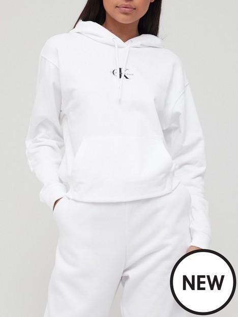 calvin-klein-jeans-cropped-monogram-hoodie-white