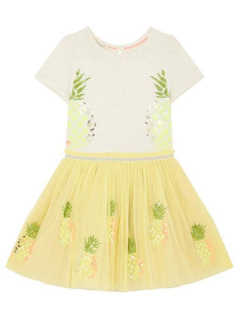monsoon-girls-disco-pineapple-dress-yellow