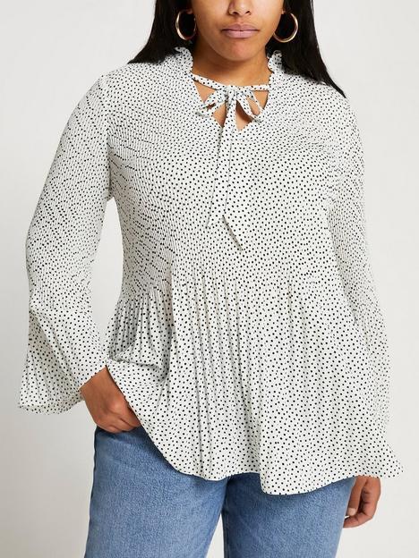 ri-plus-plus-spot-blouse--cream