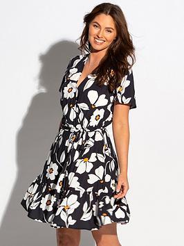 pour-moi-pour-moi-palermo-wrap-front-tiered-woven-beach-dress