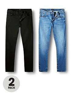 river-island-skinny-denim-jeans-2-packnbsp--blackblue