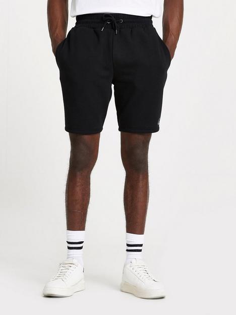 river-island-essential-script-shorts-black