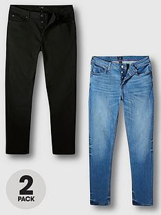 river-island-2-packnbsplebronnbspslim-fit-jeans-blackblue