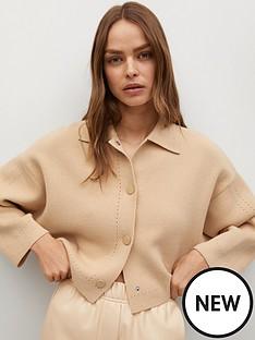 mango-oversized-lapel-collar-cardigan-light-brown