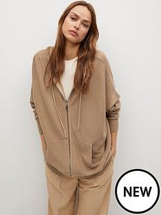 mango-drawstring-fine-knit-hoodie-light-brown