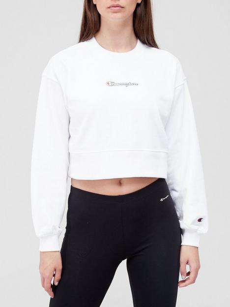 champion-crewneck-croptop-sweatshirt