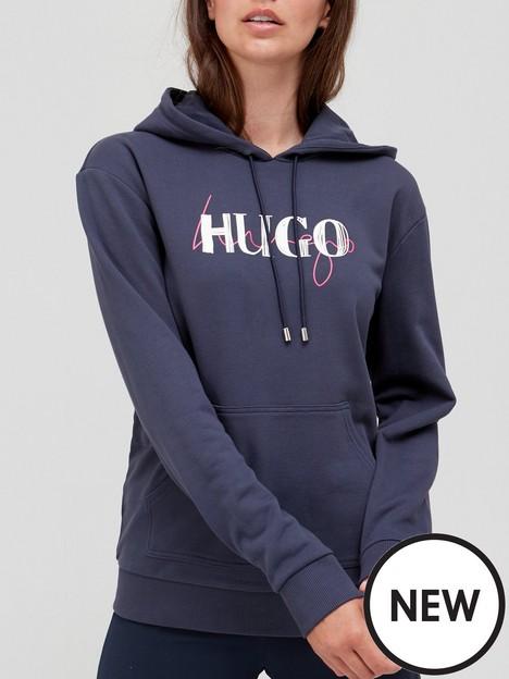 hugo-logo-pullovernbsphoodie-navynbsp