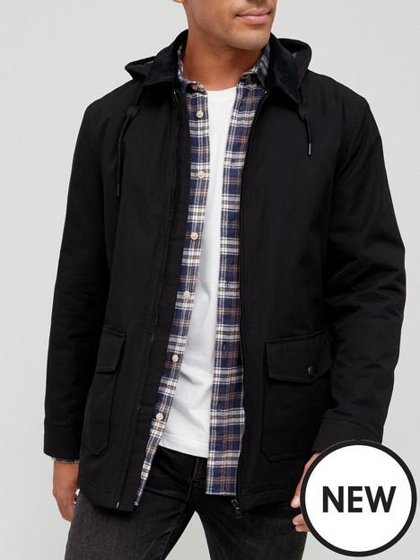 very-man-dry-wax-hooded-jacket-black
