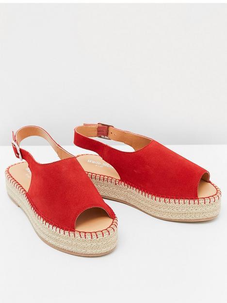 white-stuff-roxanne-suede-flatform-red