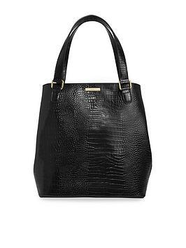 katie-loxton-celine-croc-day-bag-black