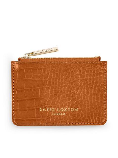 katie-loxton-celine-faux-croc-card-holder-cognac