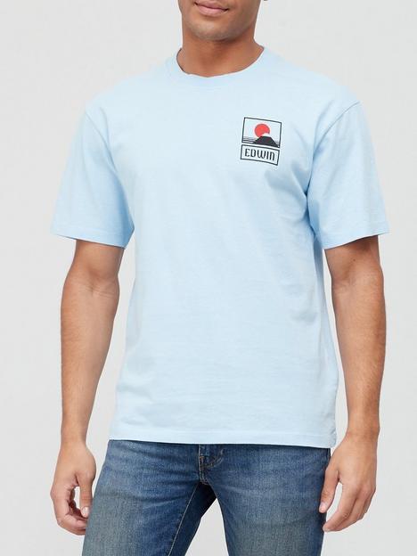edwin-sunset-mount-fuji-t-shirt-sky-blue