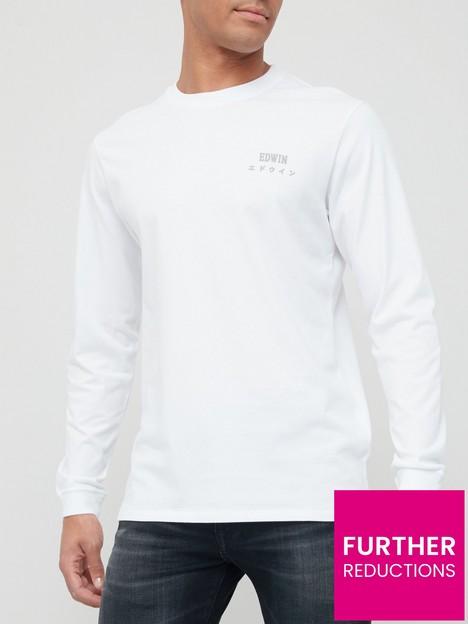 edwin-logo-chest-long-sleeve-t-shirt-white