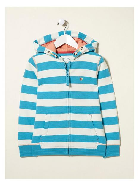 fatface-girls-block-stripe-zip-sweat-aqua-blue
