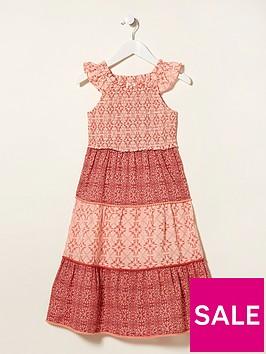 fatface-girls-beach-geo-ruby-dress-rose-pink