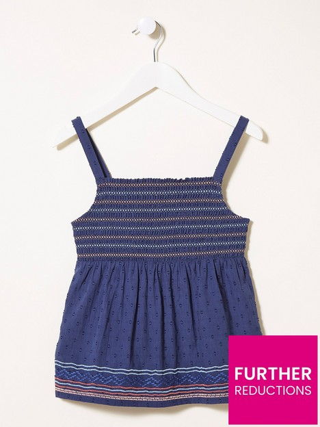 fatface-girls-embroidered-cami-top-navy