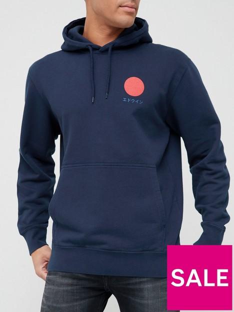 edwin-japanese-sun-hoodie-navy