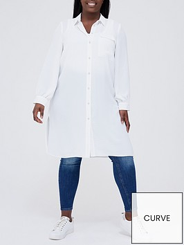 v-by-very-curve-lightweight-long-line-shirt-white