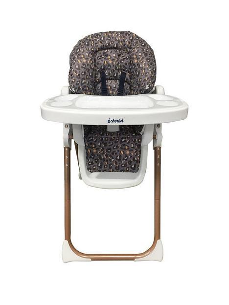 my-babiie-dani-dyer-navy-leopard-premium-highchair