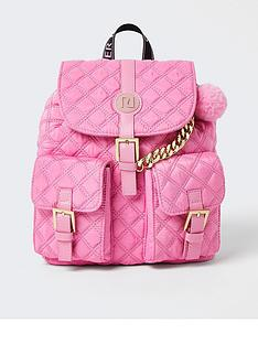 river-island-girls-quilted-pom-backpack-pink
