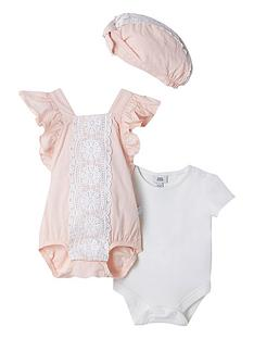 river-island-baby-baby-girls-3-piece-lace-romper-pink