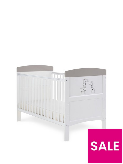 obaby-grace-inspire-cot-bed-mummy-amp-me-giraffe-grey