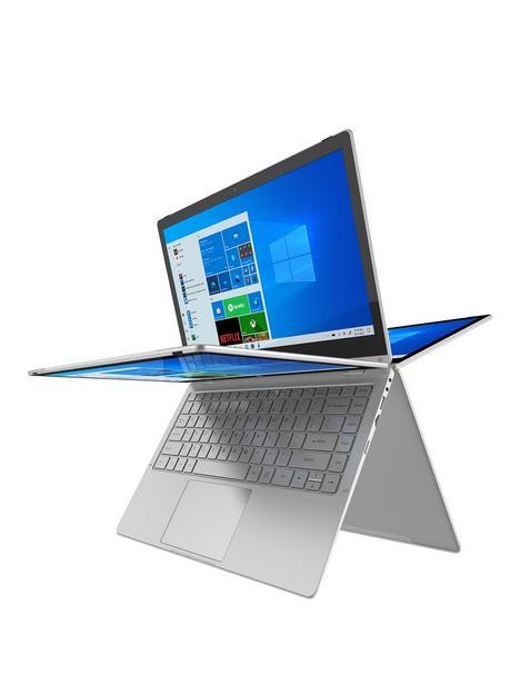 geo-geoflex-230-133-inch-convertible-windows-10-fhd-laptop-intel-pentium-quad-core-4gb-ram-128gb-ssd-with-optional-microsoft-365-family-15-months