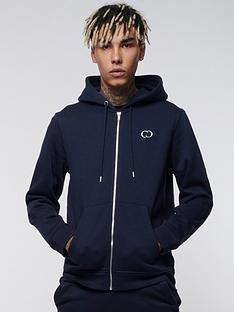 criminal-damage-eco-zip-hoodie-navy