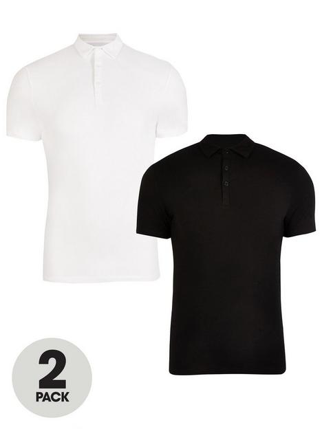 river-island-muscle-fit-polo-shirts-2-pack-blackwhitenbsp