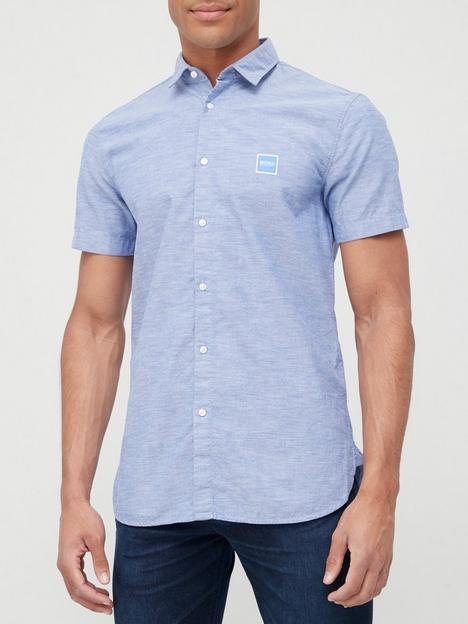 boss-magneton-short-sleeve-shirt-medium-blue