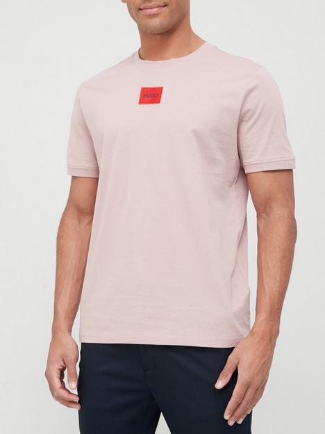 hugo-diragolino-red-patch-logo-t-shirt-pink