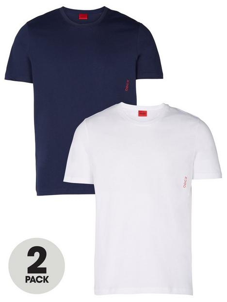 hugo-t-shirt-2-pack-whitenavy