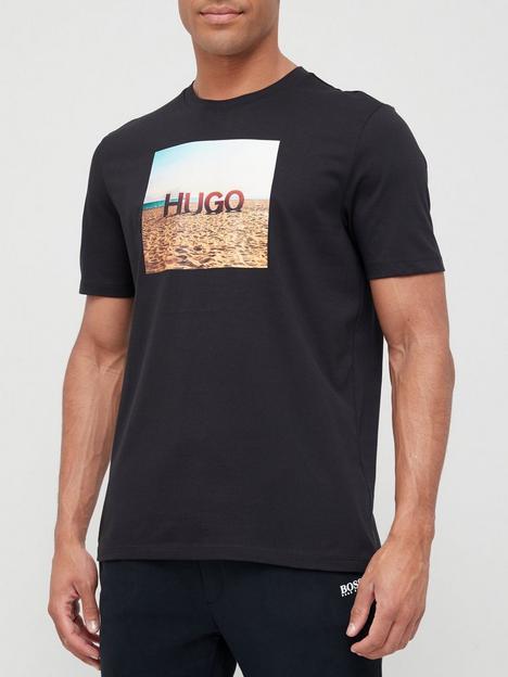 hugo-doldplay-logo-t-shirt-black