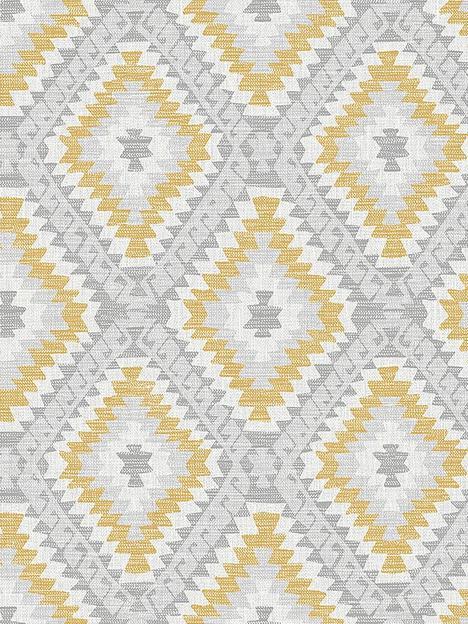 superfresco-aztec-geo-grey-ochre-wallpaper