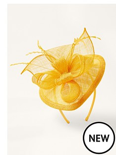 monsoon-bow-small-disc-fascinator-ochre