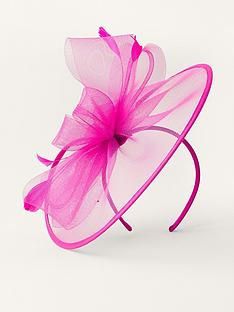 monsoon-crin-disc-fascinator-fuchsia
