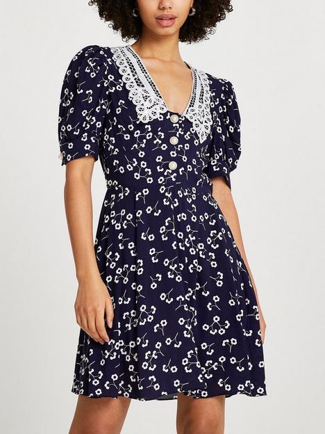river-island-collar-floral-mini-dress-navy