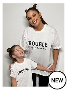 in-the-style-in-the-style-xnbspjac-joss-mini-me-unisex-trouble-slogan-t-shirt-white