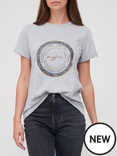 v-by-very-foil-print-slogan-t-shirt-grey-marl