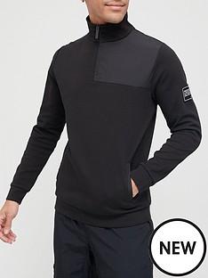 nuevo-club-madison-interlock-14-zip-funnel-neck-sweater-black