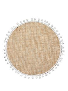 kitchencraft-pom-pom-hessian-set-of-4-round-placemats