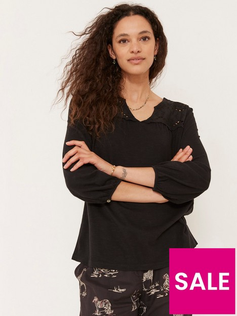 fatface-bryony-woven-jersey-mix-blouse-black