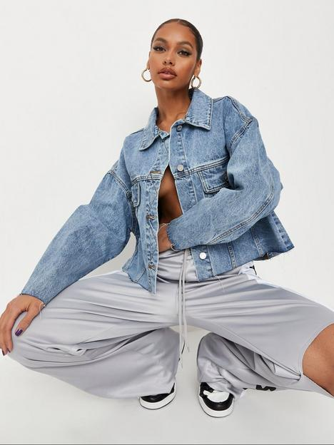 missguided-missguided-recycled-pleat-back-oversized-80s-denim-jacket-blue