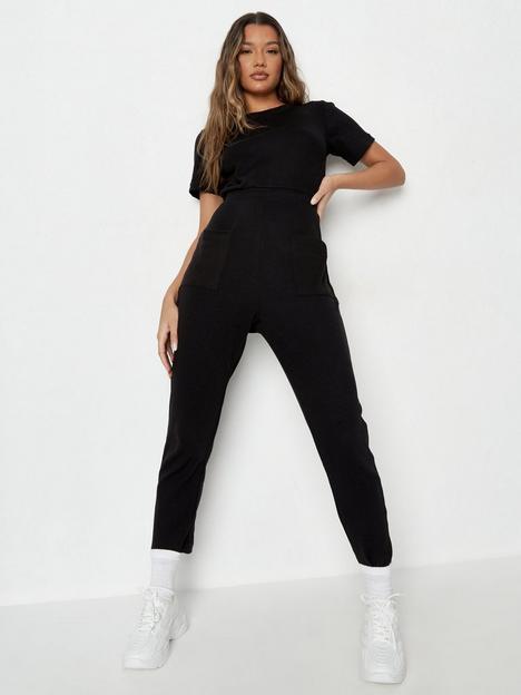 missguided-missguided-rib-pocket-jumpsuit-black