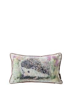 kilburn-scott-hedgehog-watercolour-cushion